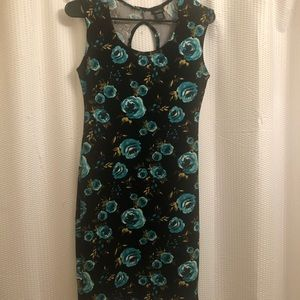 Rue 21 women dress(turquoise and black)